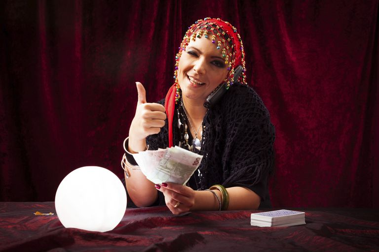 Psychic Holding Money