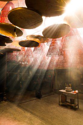 Sunlight Coming Inside Man Mo Temple