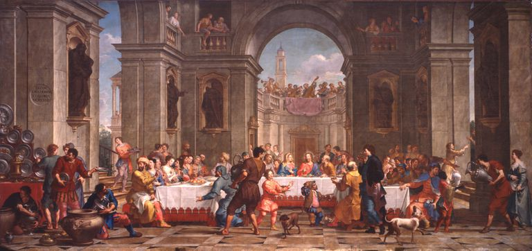 Wedding at Cana, by Bortolo Litterini, 1721, 18th Century, oil on canvas