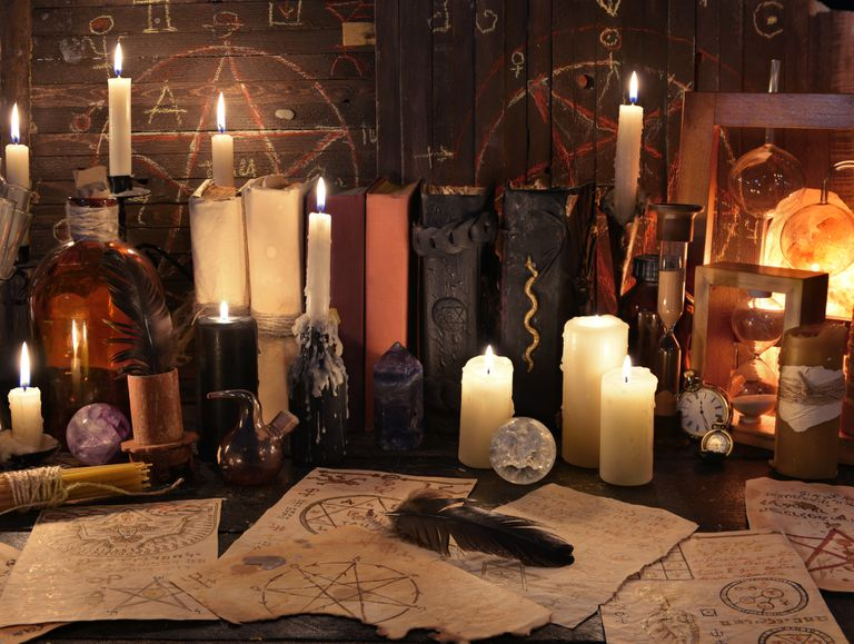 Candles, books, and old symbols