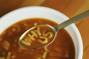 Alphabet soup spelling why us