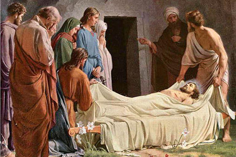 Joseph of Arimathea donates his tomb