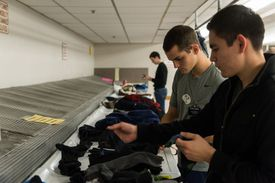 LDS missionaries doing laundry