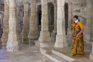 Jain Pilgrim at a temple.