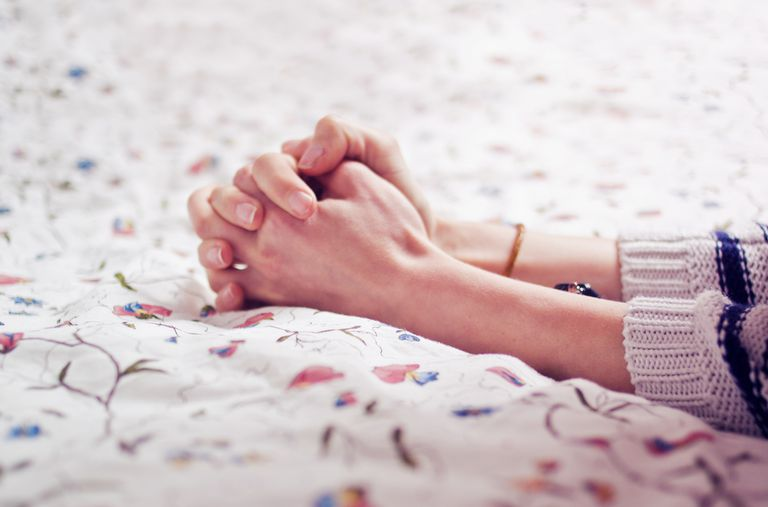 woman's hands in prayer