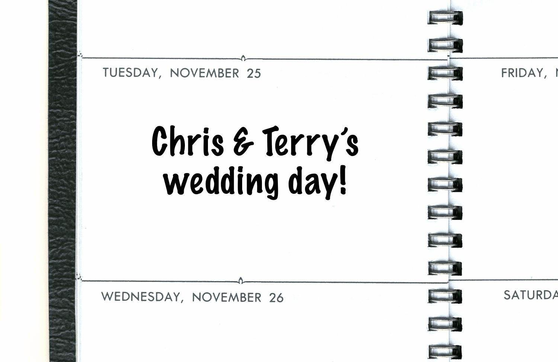 Tuesday on a calendar