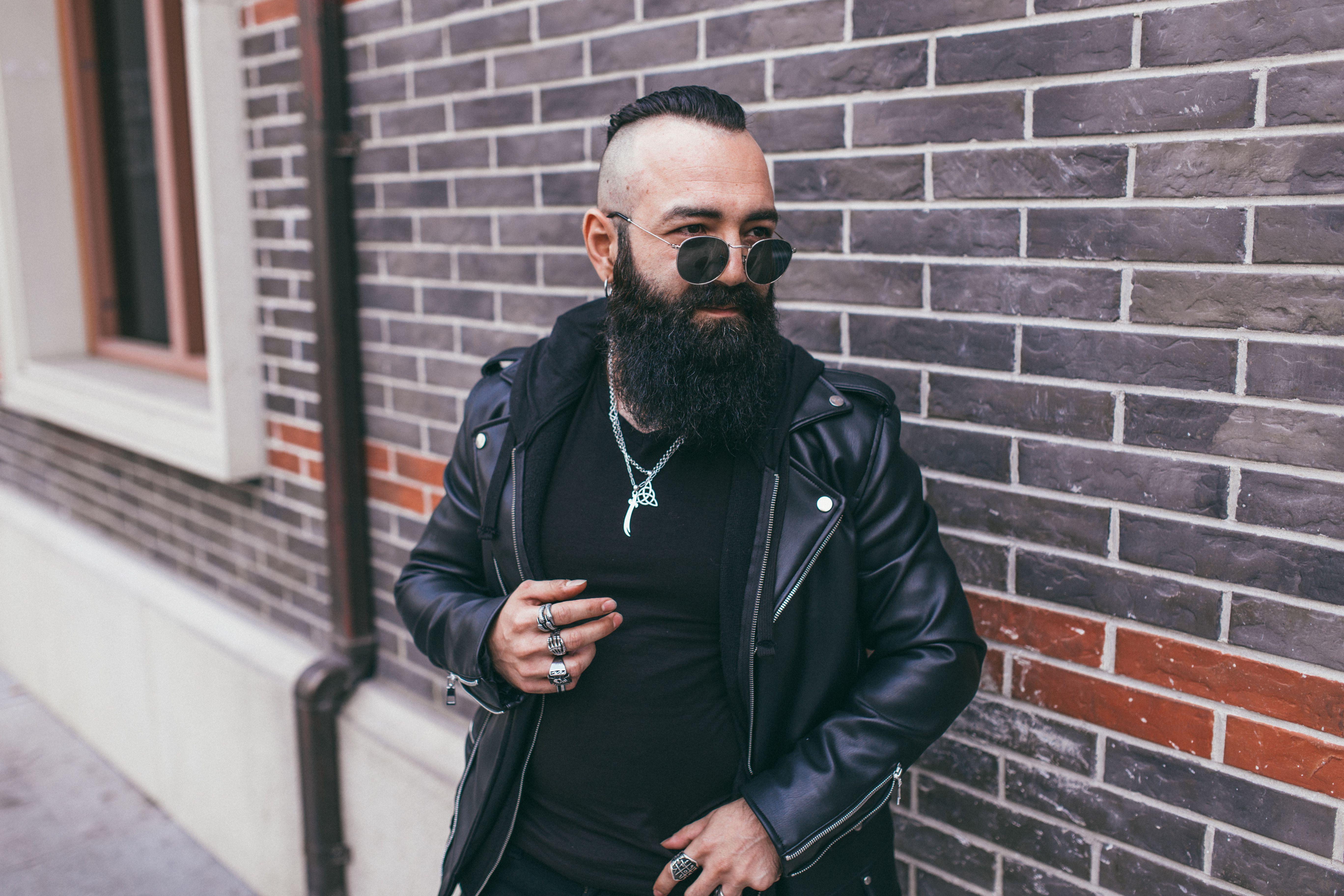 biker wearing black