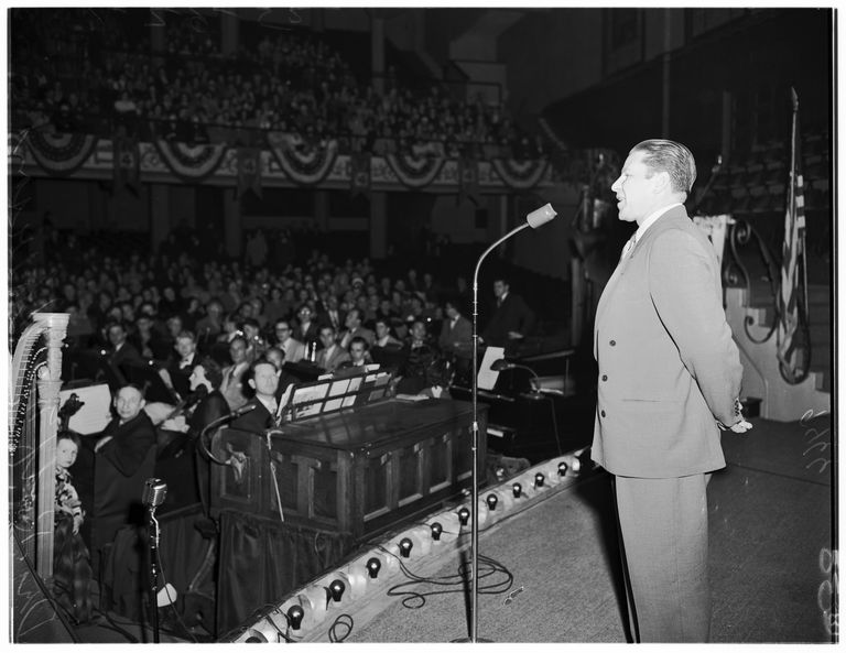 International Church of Four-Square Gospel convention at Angelus Temple, 1952