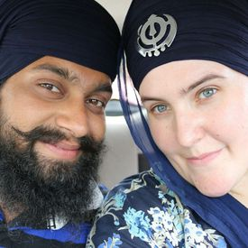 Sikh Couple With Turbans