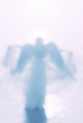 Blue blurry angel