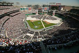 Aerial View of Papal Mass at Washington Nationals Stadium (Photo by Chip Somodevilla/Getty Images)