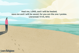 Illustration depicting a woman standing on the beach with the following text: