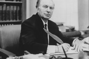 L. Ron Hubbard At Desk