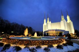 LDS Temple at Christmas