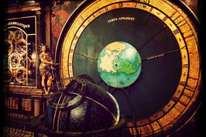 astronomical clock and globe