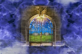 An image of the gates of Eden