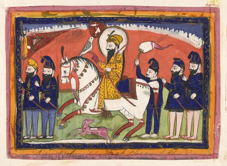 Sri Gobind Singh on horseback