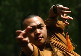 Shaolin Monks With Mala Beads