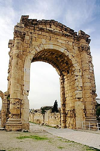 Triumphal Arch of Tyre, Lebanon: Reconstructed Arch from the Ancient Phoenician City