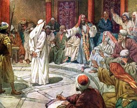Jesus Standing Before Caiaphas