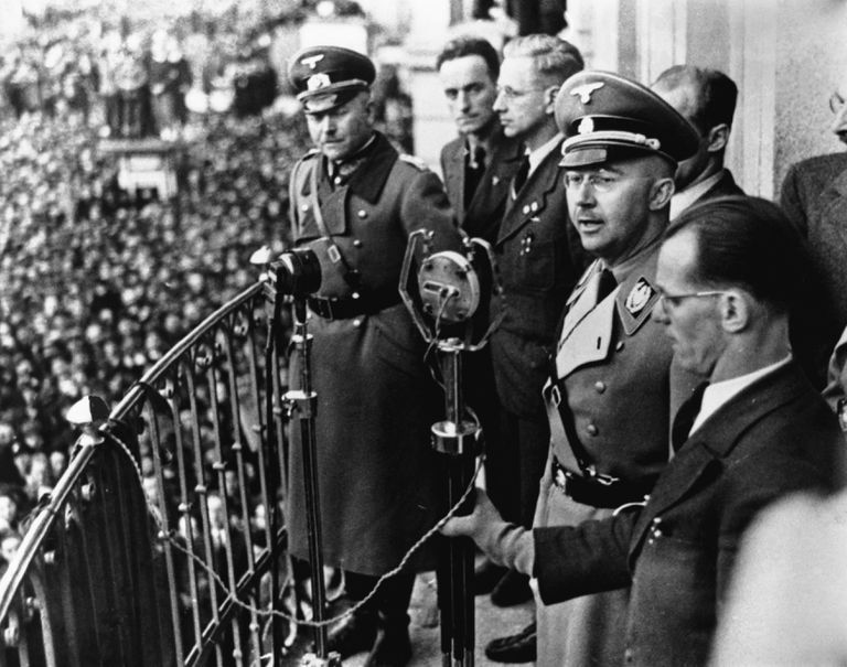 Heinrich Himmler Addresses Crowd