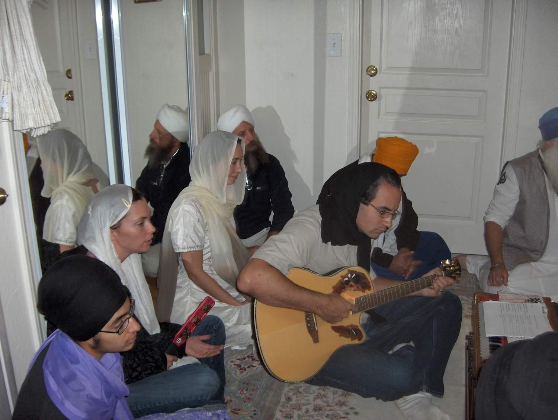 Expectant Parents Sing Hymns of Gurbani Kirtan