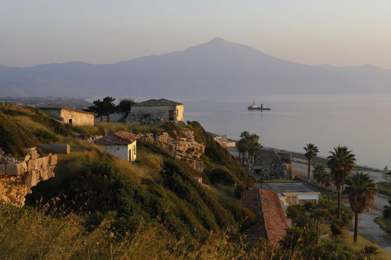 Antioch in Greece overlooking the water