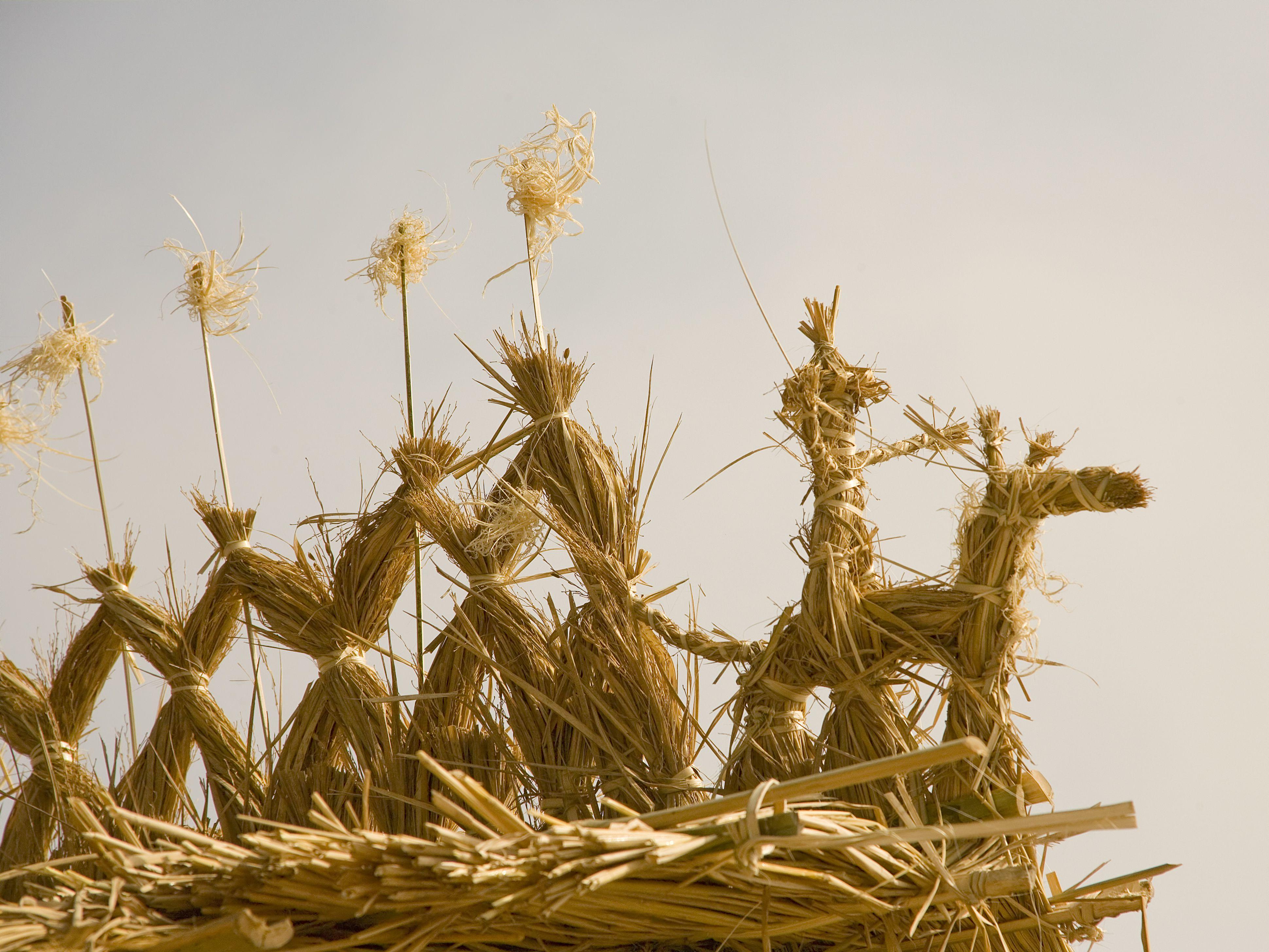 Straw Harvest Figures