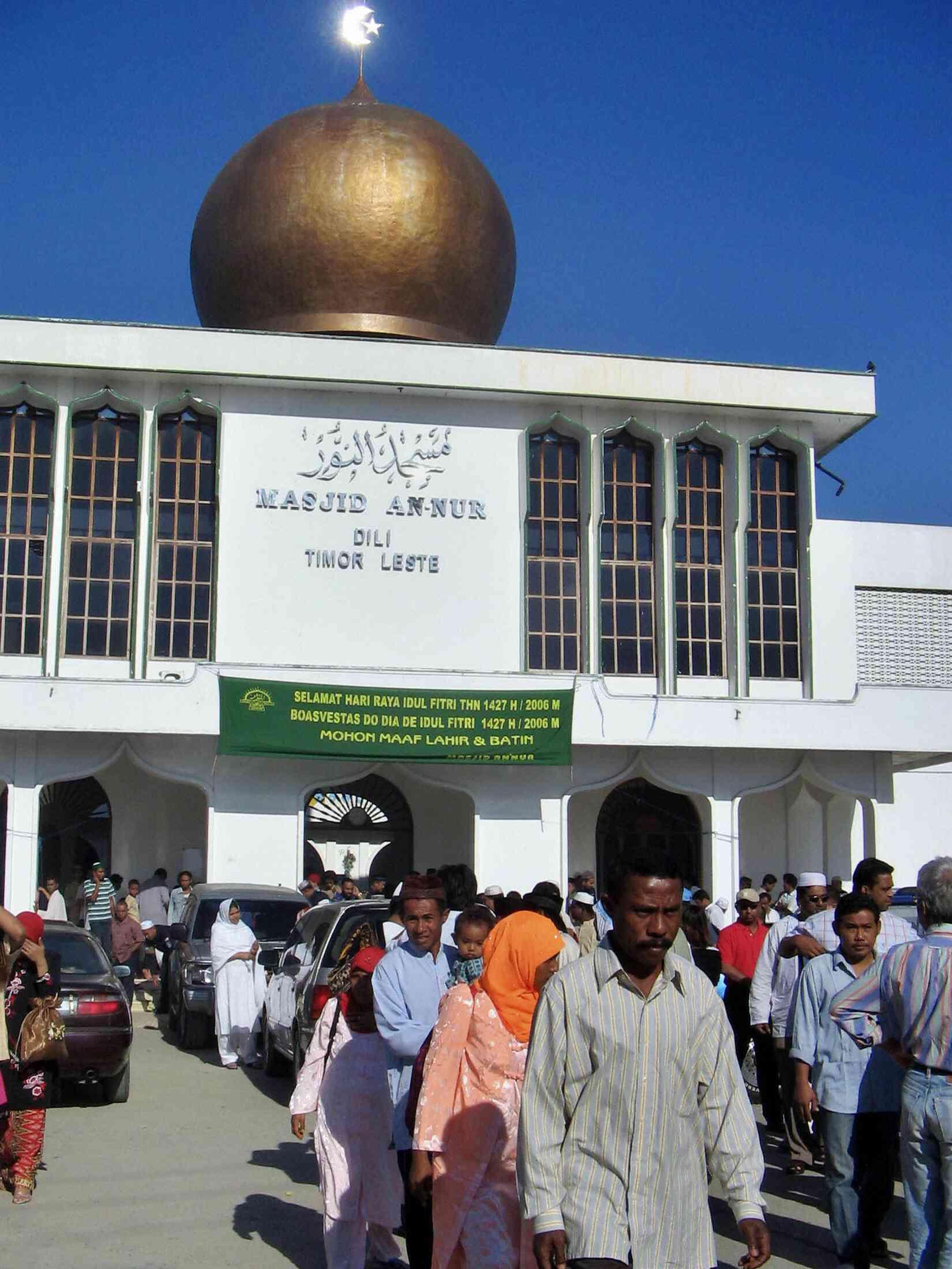 Devotees of a minority Muslim community East Timor