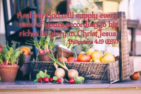 Philippians 4:19 - According to His Riches in Glory