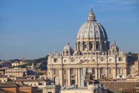 Italy, Lazio, Rome, View of St. Peter's Basilica
