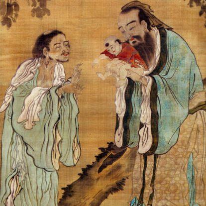 Confucius Presenting the Young Gautama Buddha to Laozi.