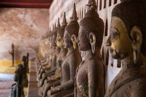 Buddhist temple in Vientiane, Laos