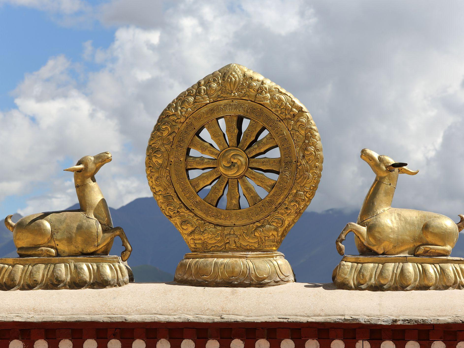 The Dharma Wheel (Dharmachakra) Symbol of Buddhism