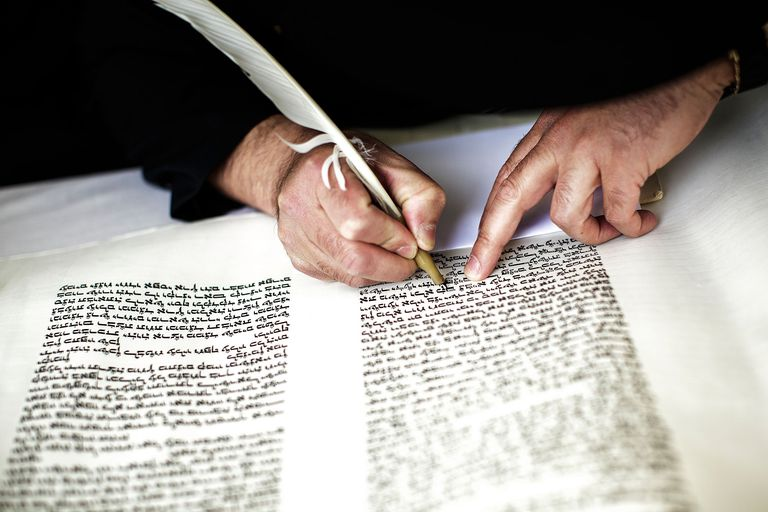 Writing Hebrew scripture