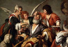 'The Healing of Tobit', c1635. Artist: Bernardo Strozzi