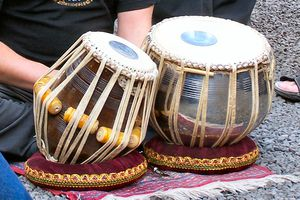 Tabla, a South Asian percussion instrument.