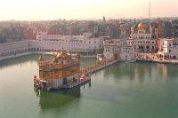 Golden Temple and Akal Takhat Surrounded by Sarovar Amritsar