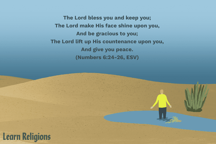 Illustration of a Bible verse on gratitude (Numbers 6:24-6:26, ESV)