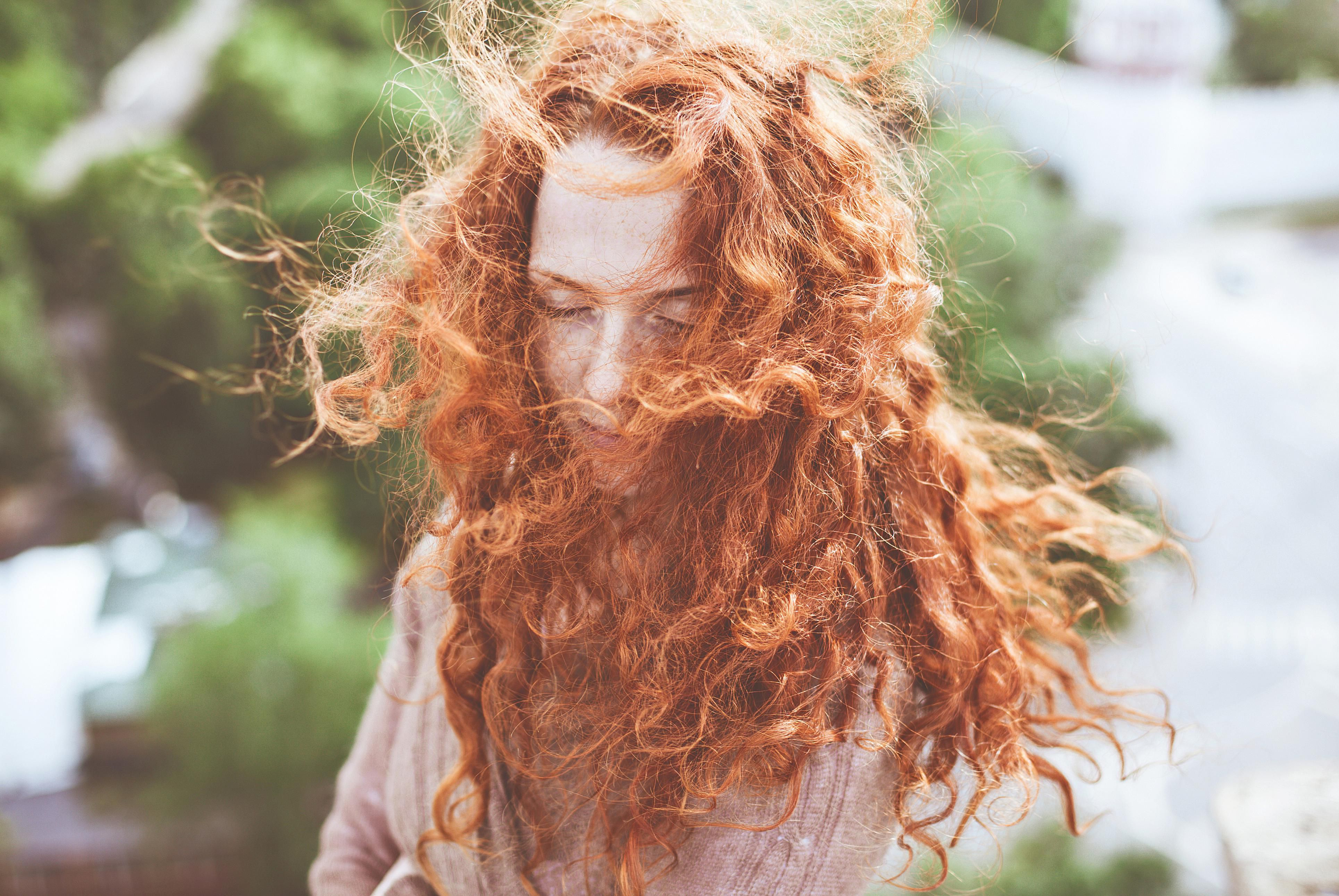 Redhaired Woman Outdoors