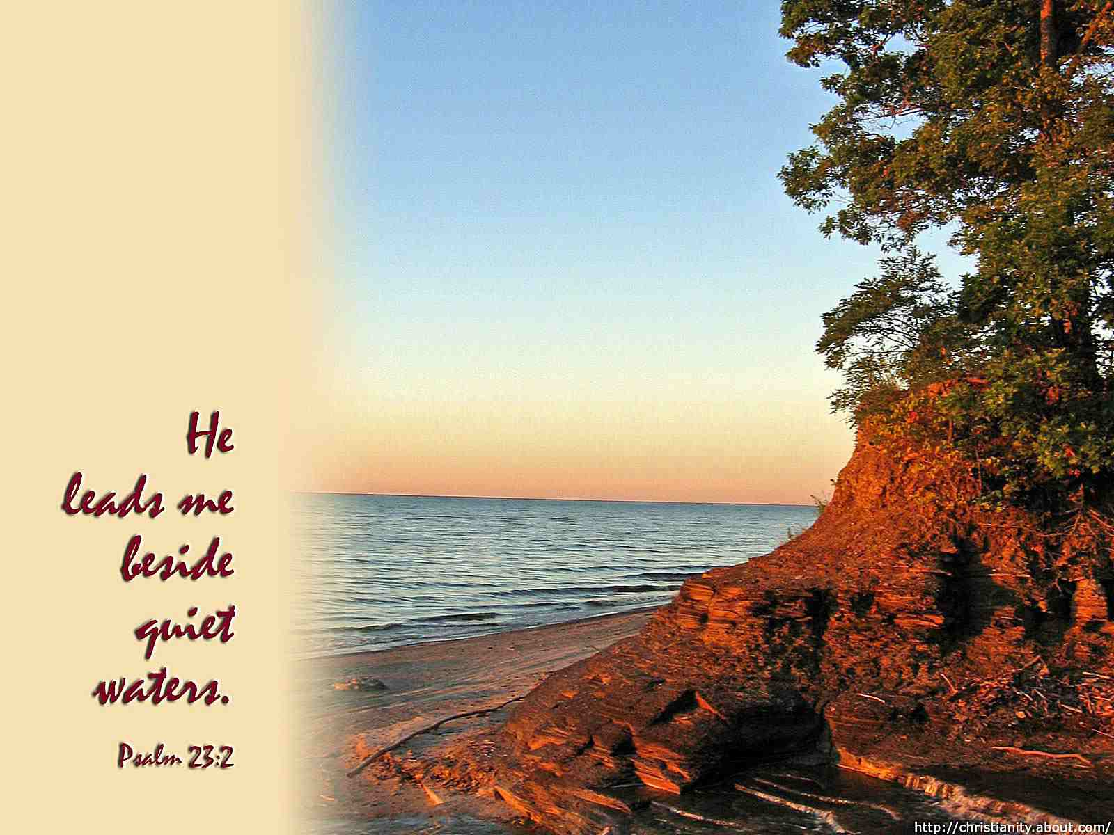 Quiet Waters with bible verse