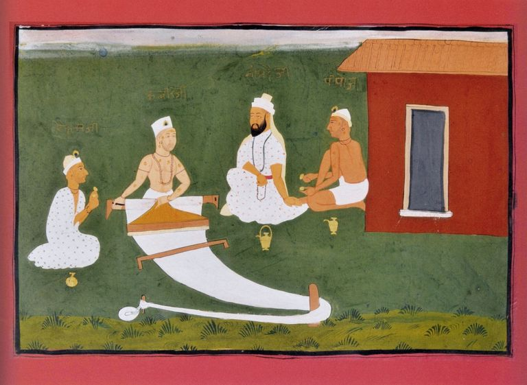 Saint Kabir with Namdeva, Raidas and Pipaji