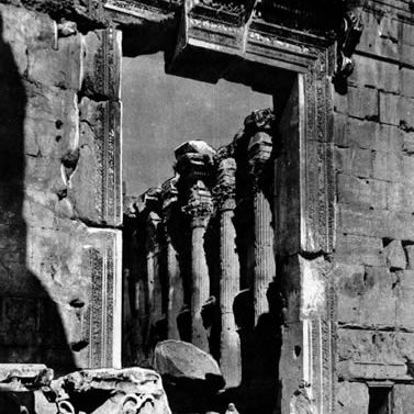 Baalbek Temple of Bacchus: Entrance to the Temple of Bacchus at Baalbek, Lebanon
