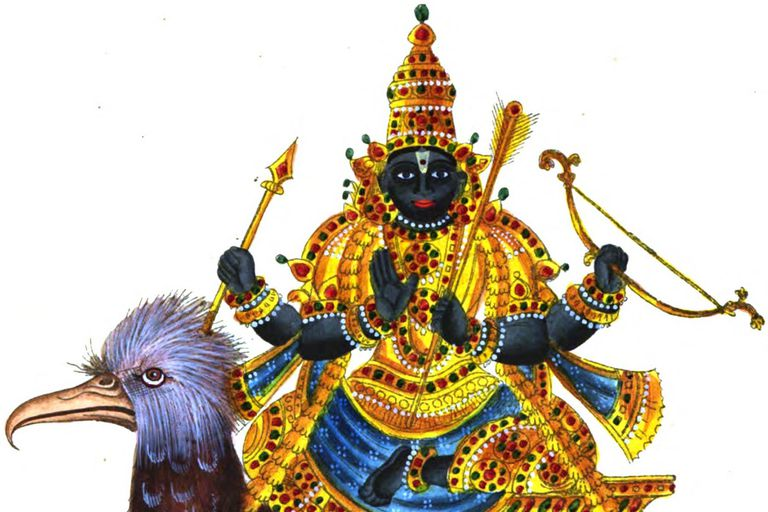 Painting of Shani Dev