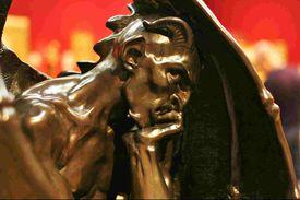 a statue of Satan