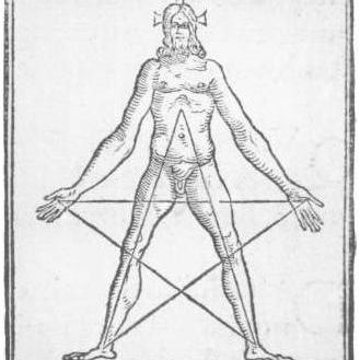 Pentagram as Wounds of Christ