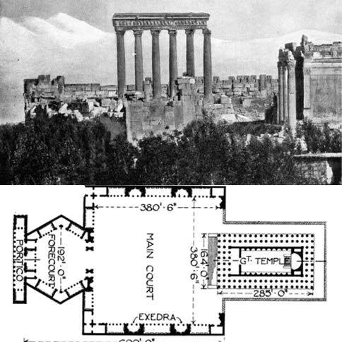 Baalbek, Temple of Jupiter Baal (Heliopolitan Zeus): What is the Origin of the Temple Site Baalbek?