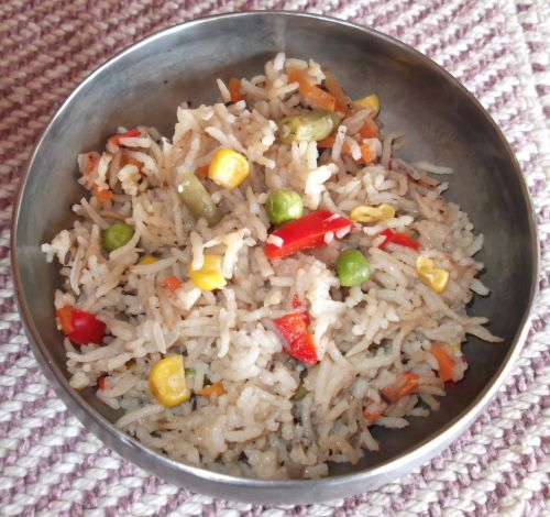Cinnamon Spiced Basmati Rice With Mixed Vegetables