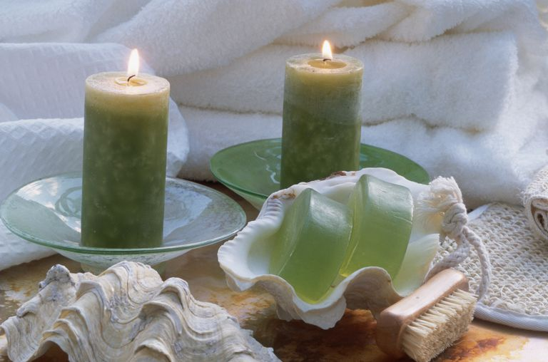 Green Angel Prayer Candle for Healing and Prosperity