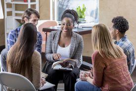 young adults enjoying a Bible study group